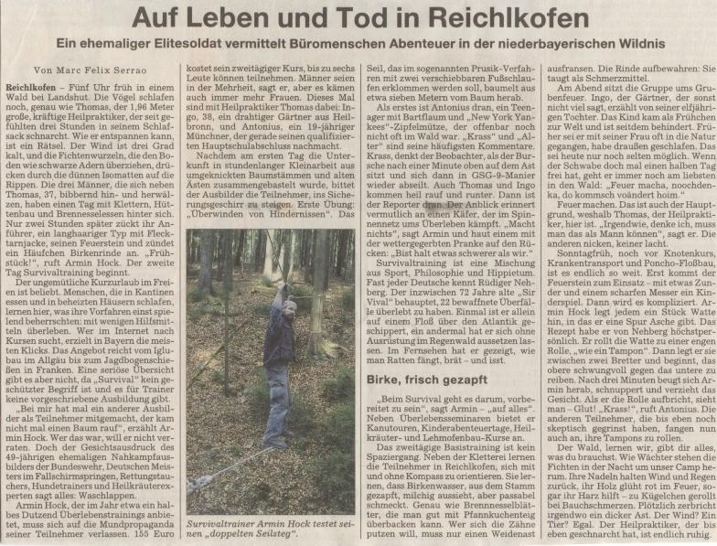 23. April 2008 – Süddeutsche Zeitung