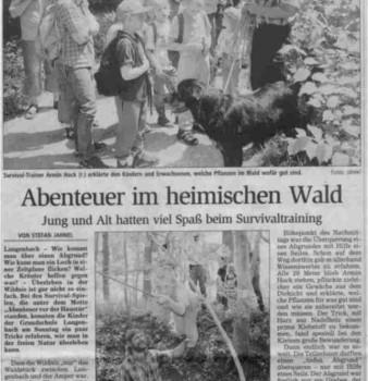 Freisinger Tagblatt zum Familienabenteuertag 17.6.2003